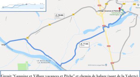 Chemins de randonnées : Accès au chemin de halage